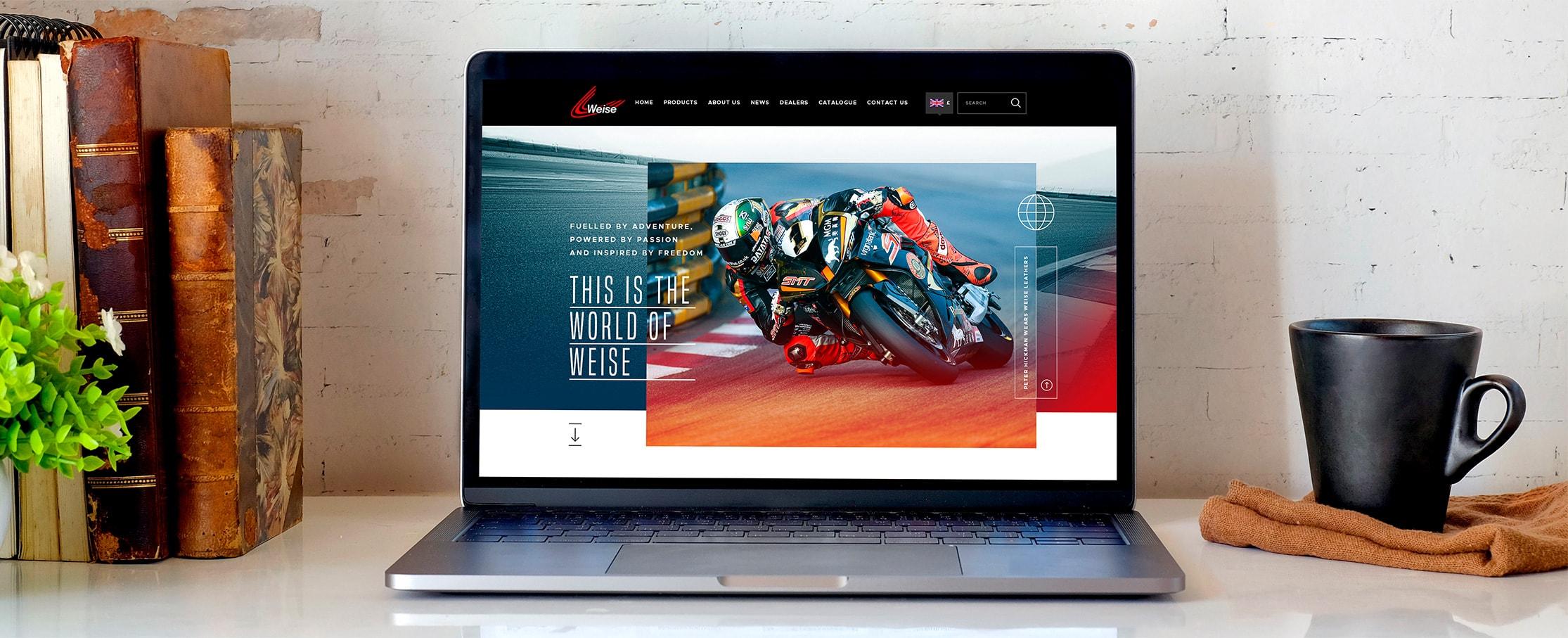 Motorcycle dealer website design Weise