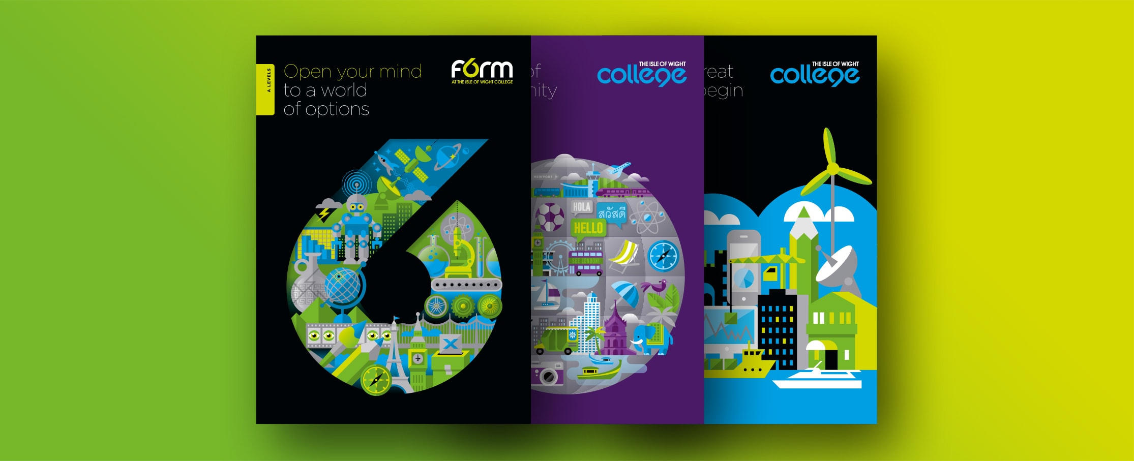 Prospectus 6th form brochure designs covers