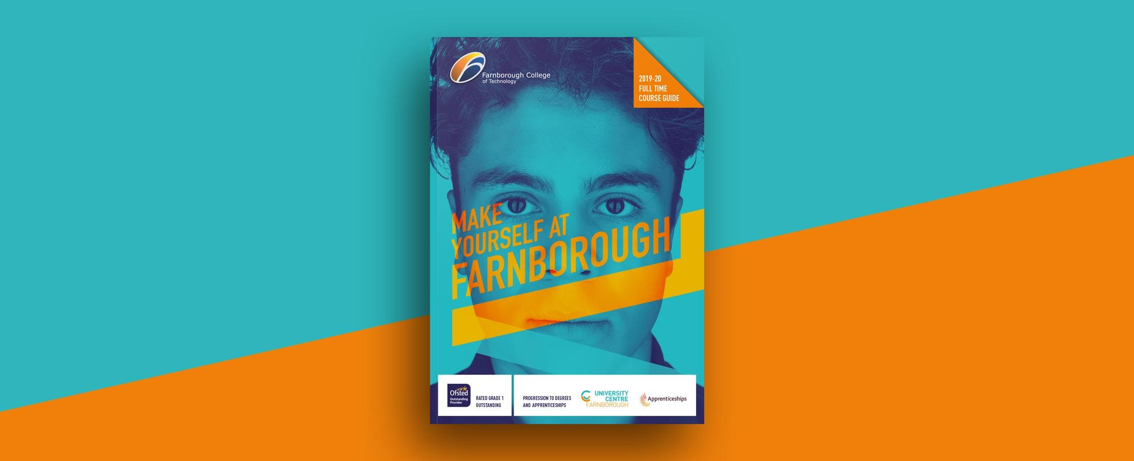 Prospectus cover design Farnborough college