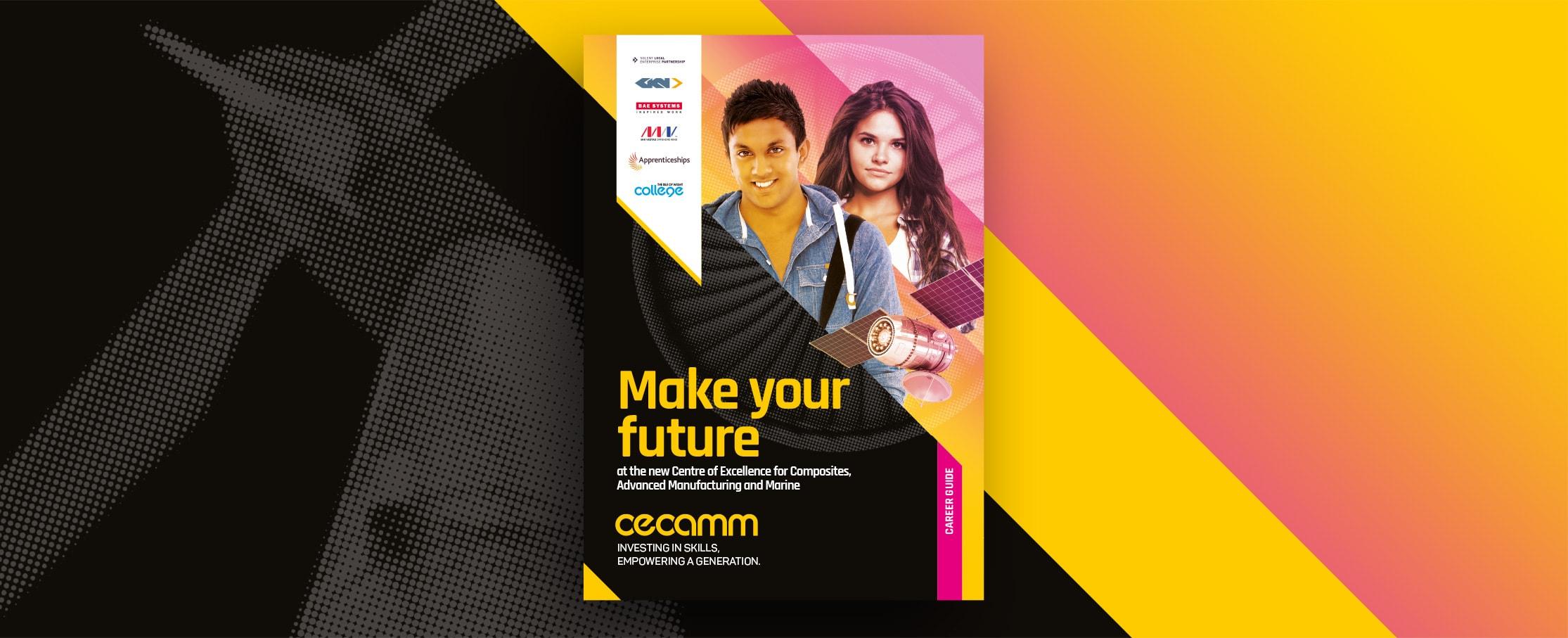 Prospectus cover design IOW CECAMM college