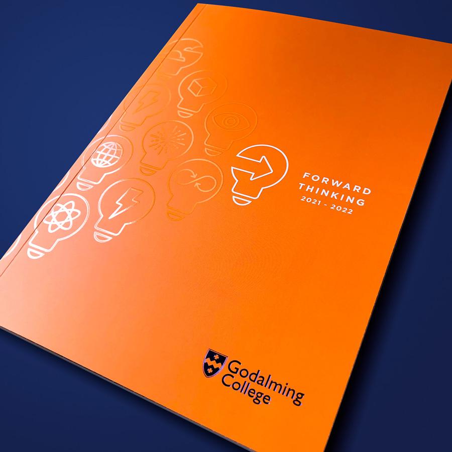 Prospectus design printing Godalming College