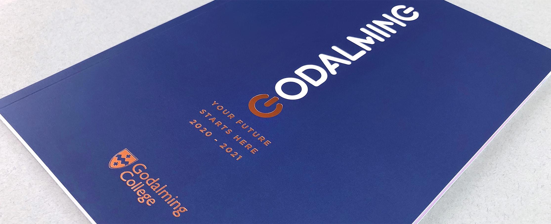 College prospectus cover design