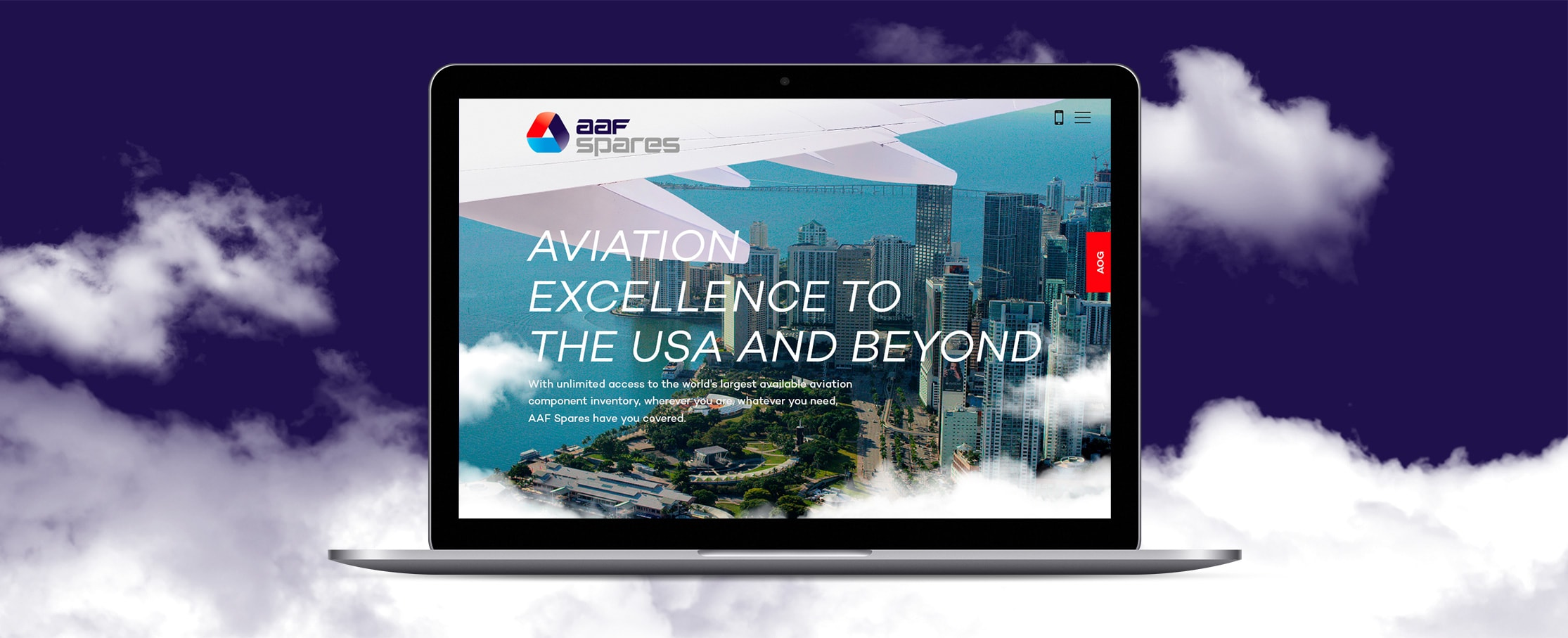 US aviation web designs AAF Spares
