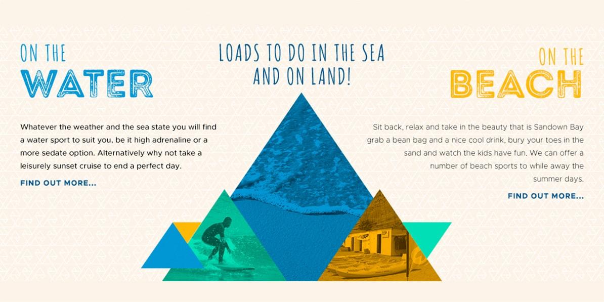 Water sport website design Wightwaters