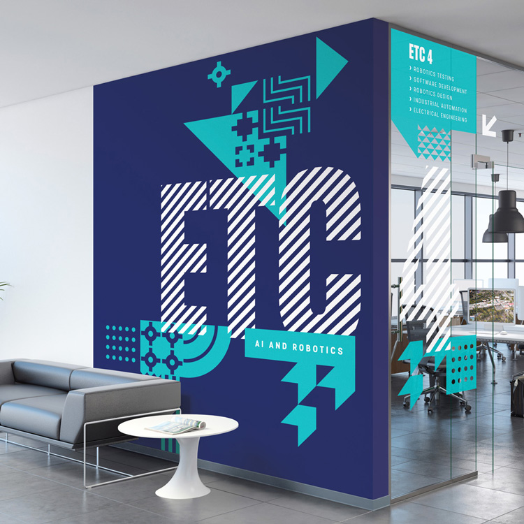 Wayfinder graphics for Farnborough college