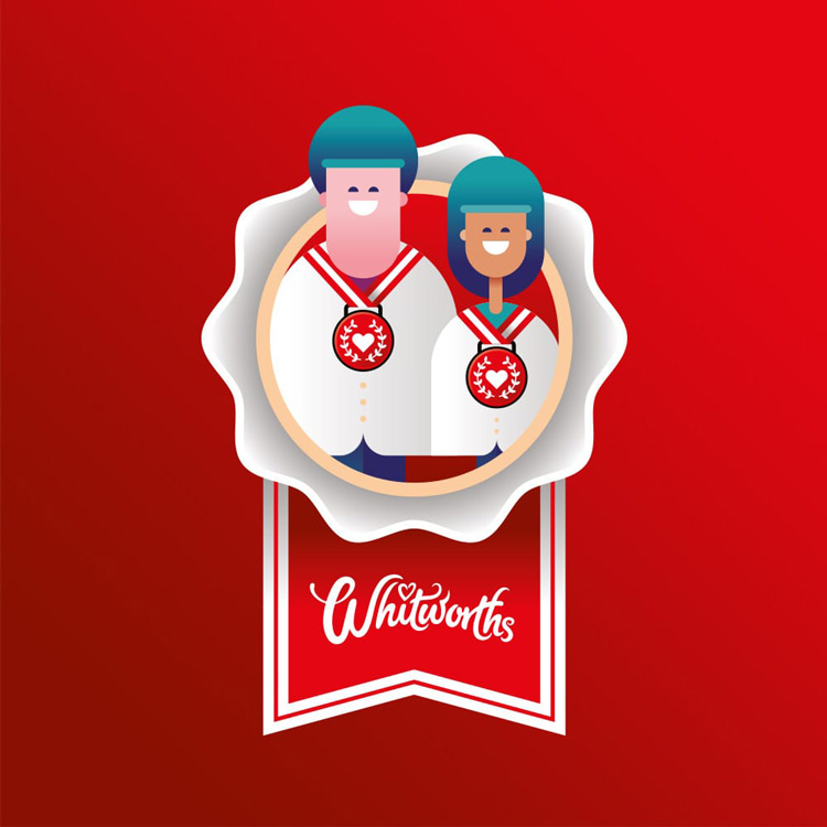 Whitworths branding design