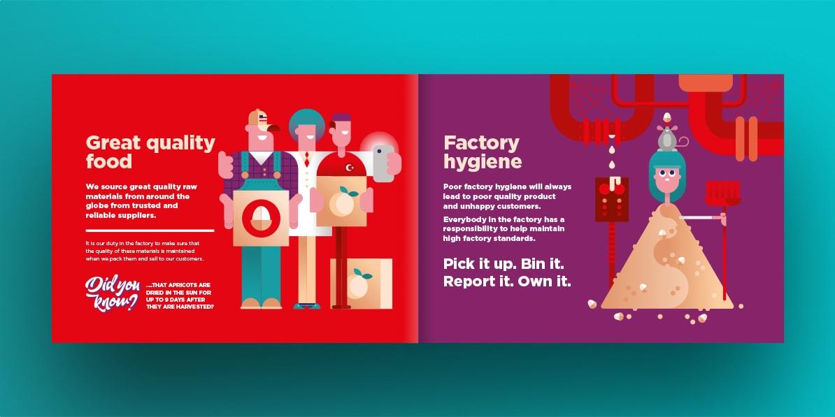 Whitworths leaflet design