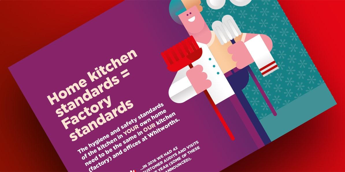 Whitworths promotion leaflet design